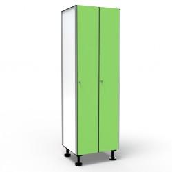 Locker 1 Door 2 Modules - Green