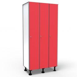 Locker 1 Door 3 Modules - Red
