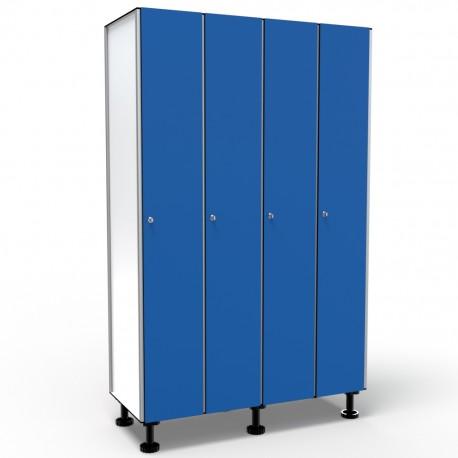 Locker 1 Door 4 Modules - Blue