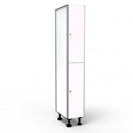 Locker 2 Doors 1 Module - White