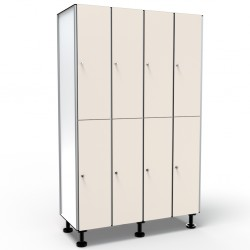 Locker 2 Doors 4 Modules - Gray