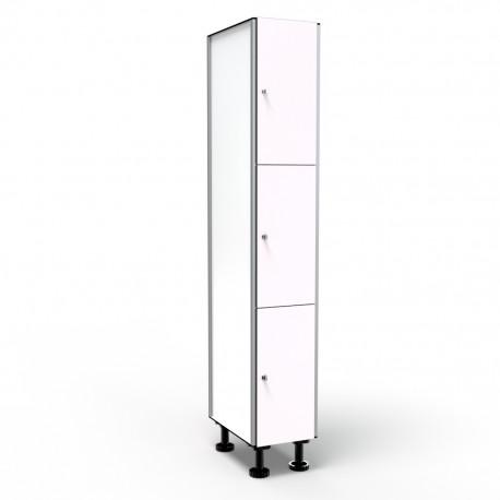 Locker 3 Doors 1 Module - White
