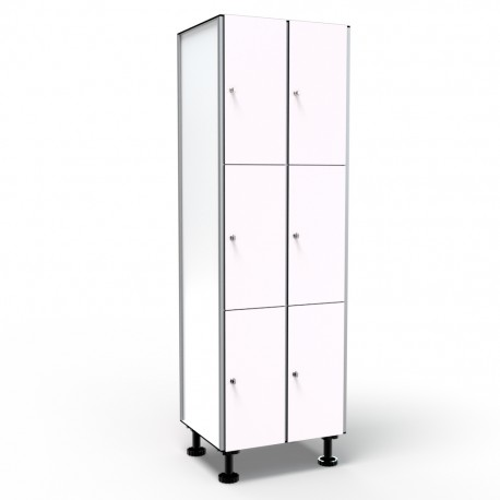 Locker 3 Doors 2 Modules - White