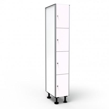 Locker 4 Doors 1 Module - White