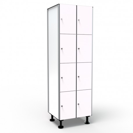 Locker 4 Doors 2 Modules - White
