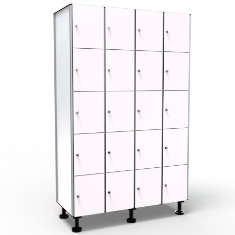 Locker 5 Doors 4 Modules - White