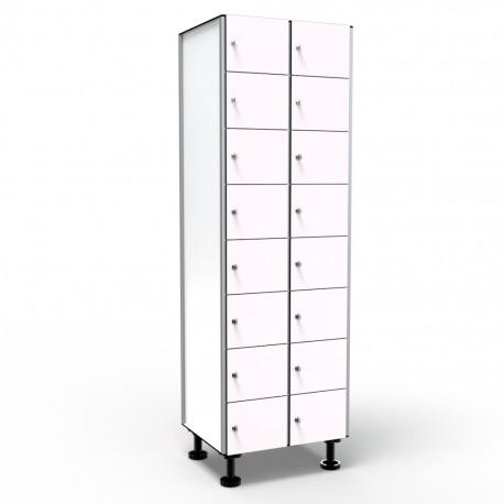 Locker 8 Doors 2 Modules - White