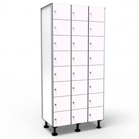 Locker 8 Doors 3 Moduless - White