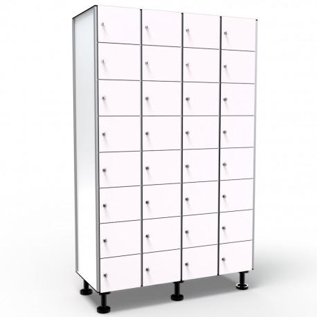 Locker 8 Doors 4 Modules - White