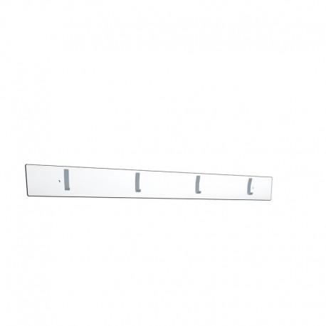 Wall coat rack 1m - White