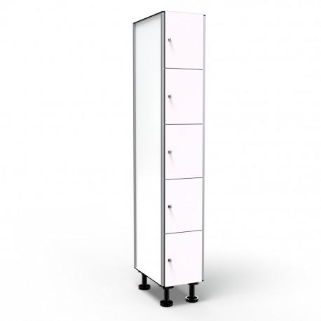 Locker 5 Door 1 Module - White