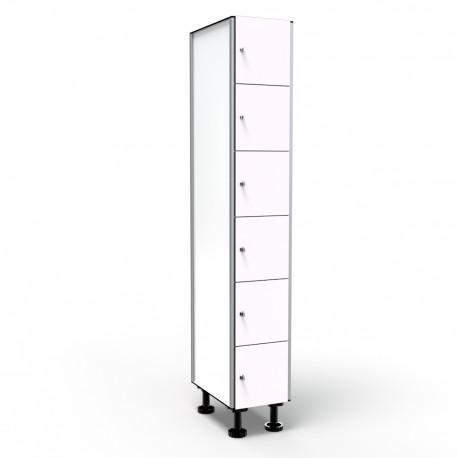 Locker 6 Doors 1 Module - White