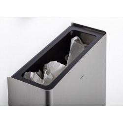 Wall waste receptable