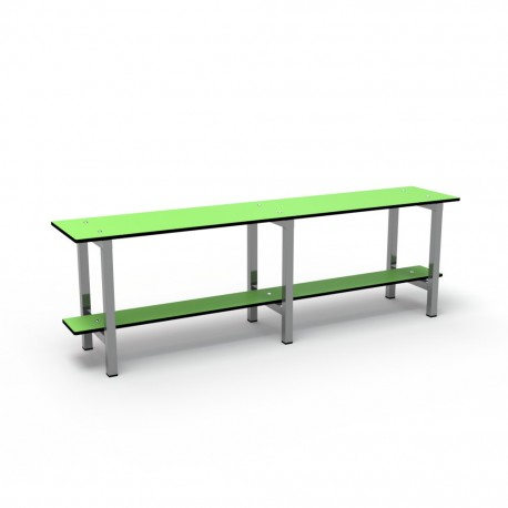 1.5m Simple Bench - Stainless Steel - Green